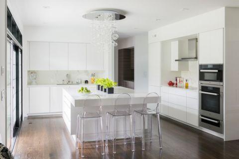 厨房现代风格效果图大全2017图片_土拨鼠典雅摩登厨房现代风格装修设计效果图欣赏