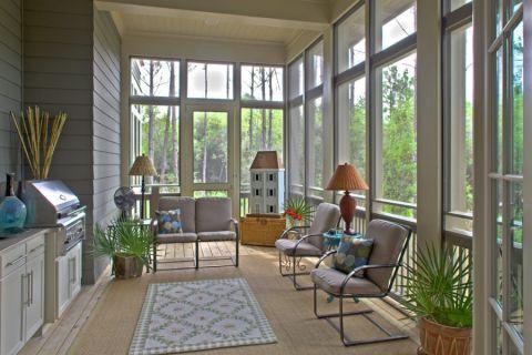阳光房落地窗混搭风格装饰设计图片