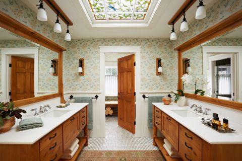 浴室美式风格效果图大全2017图片_土拨鼠潮流清新浴室美式风格装修设计效果图欣赏