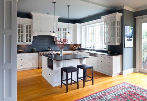 厨房现代风格效果图大全2017图片_土拨鼠古朴休闲厨房现代风格装修设计效果图欣赏