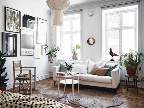 客厅北欧风格效果图大全2017图片_土拨鼠干净个性客厅北欧风格装修设计效果图欣赏
