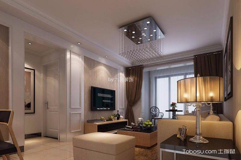 108平米现代简约风格三室两厅装修效果图