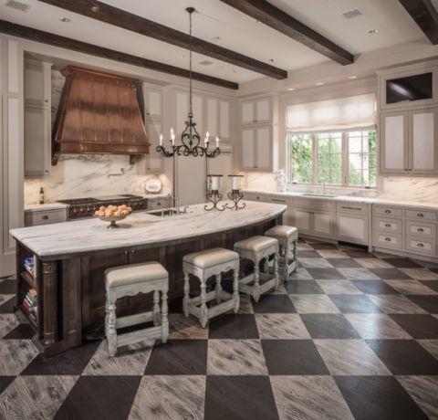 2018欧式厨房装修图 2018欧式地板装修效果图大全