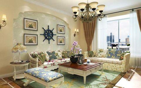 梧桐院150平米美式乡村风格四居室装修效果图