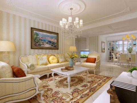 客厅彩色照片墙简欧风格装修图片