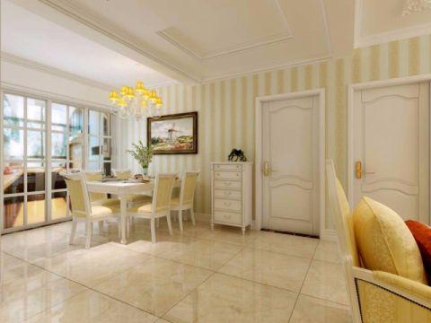 餐厅米色地砖简欧风格装饰设计图片