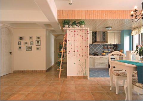 厨房厨房岛台田园风格装潢图片