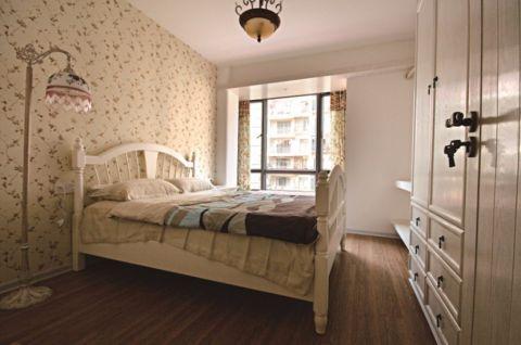 卧室床田园风格装饰设计图片