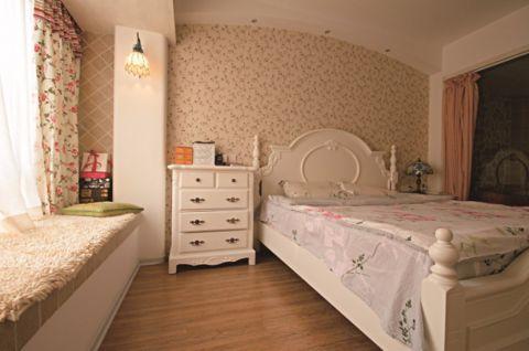 卧室飘窗田园风格装潢设计图片