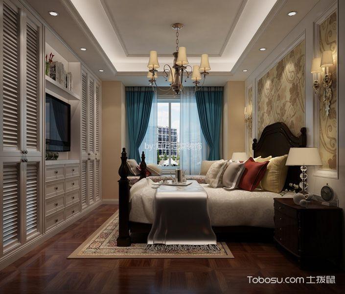 中海珑玺135平米美式风格四居室装修效果图