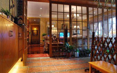 玄关背景墙欧式风格装饰设计图片