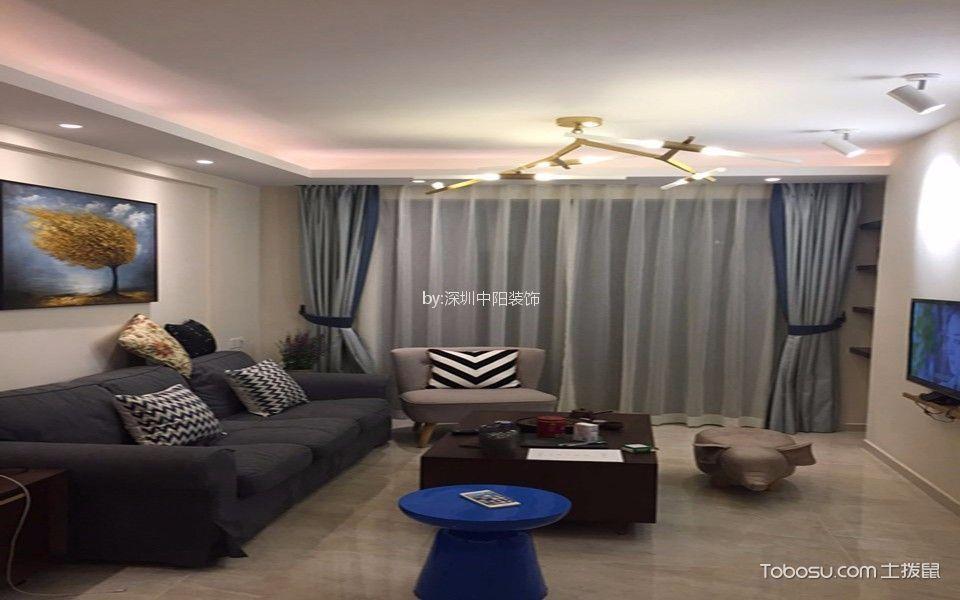 80平方新中式风格二居室装修效果图
