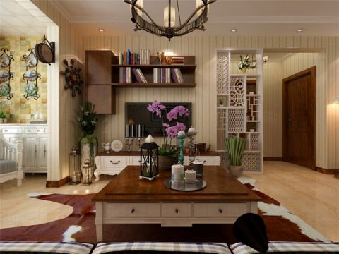 北大资源燕南田园风格86平三居室装修效果图