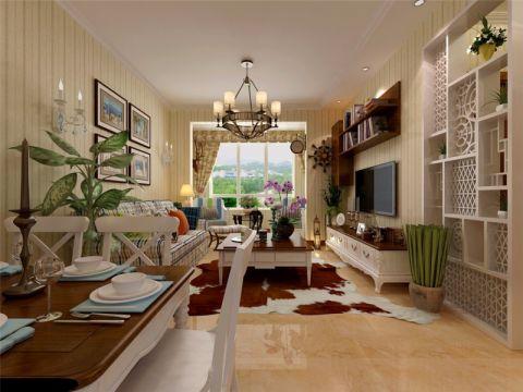 客厅地板砖东南亚风格装修效果图