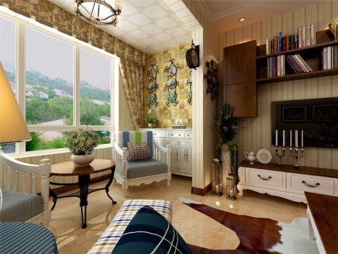 阳台窗帘东南亚风格装修图片