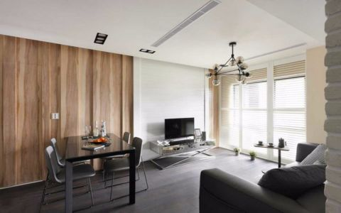 中行融侨路三室一厅90平简约风格装修效果图