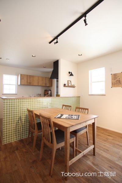 餐厅咖啡色地板砖现代风格装修设计图片