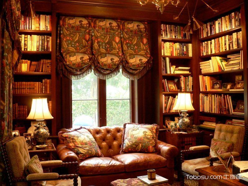 书房沙发美式风格装潢设计图片