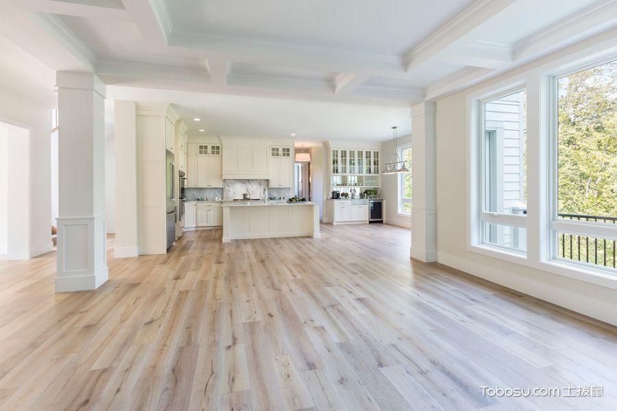 客厅米色地板砖美式风格装修效果图