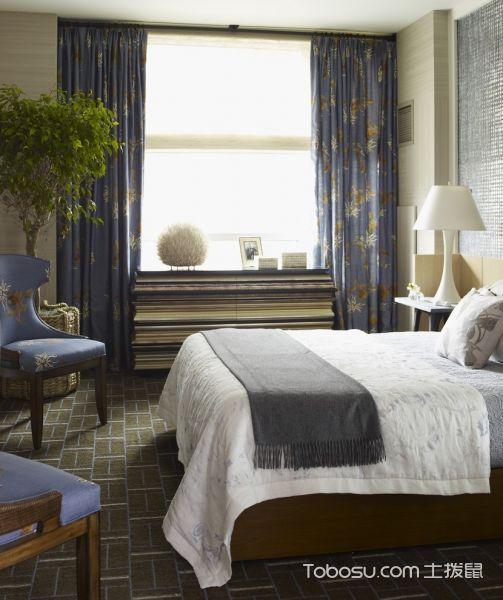 卧室蓝色沙发混搭风格装饰设计图片