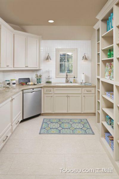 卫生间米色地砖美式风格装修图片