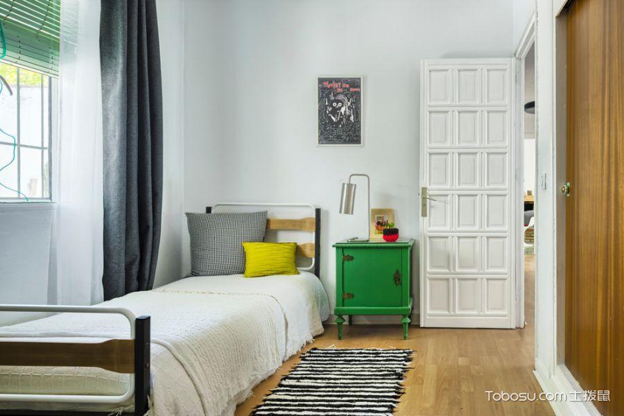 卧室灰色窗帘混搭风格装潢设计图片