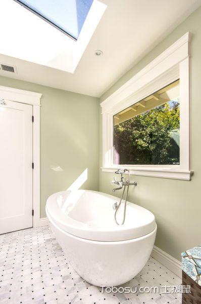 浴室白色浴缸美式风格效果图