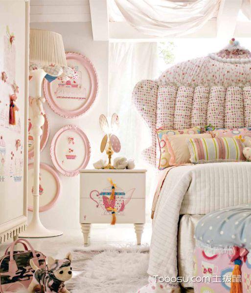 儿童房白色床头柜现代风格装修图片