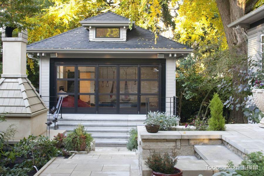 花园米色地砖美式风格装饰效果图