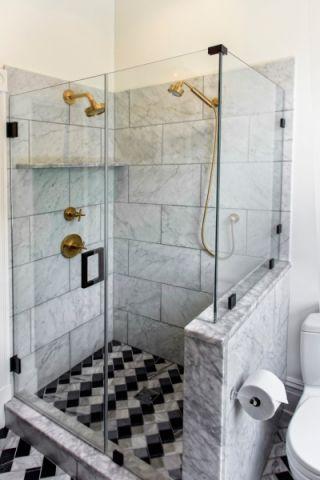 浴室隔断现代风格装潢效果图