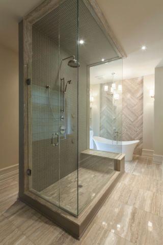浴室隔断混搭风格装修设计图片