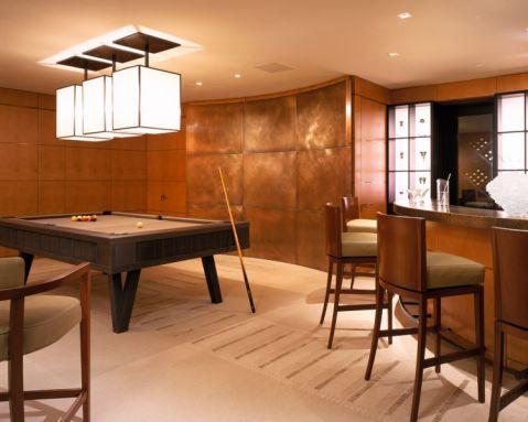 地下室吧台美式风格装修效果图