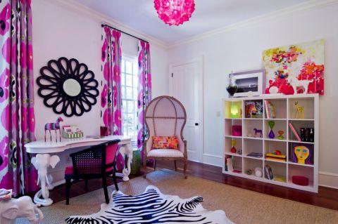 儿童房书桌混搭风格装饰图片