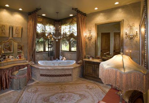 浴室浴缸混搭风格装潢设计图片