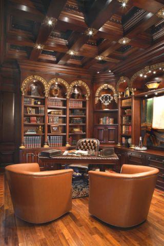 书房吊顶混搭风格装潢效果图