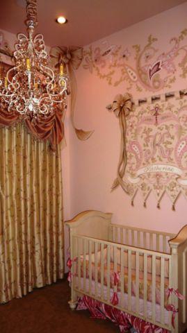儿童房背景墙混搭风格装修图片
