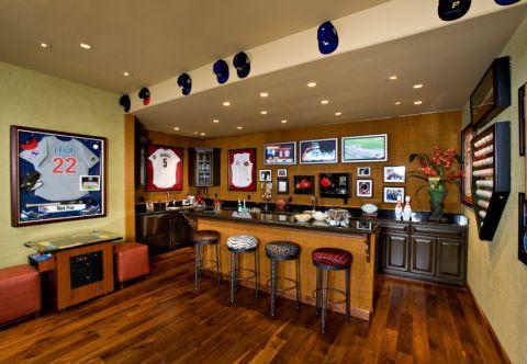 地下室吧台混搭风格装饰图片