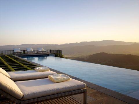 花园泳池地中海风格装修效果图