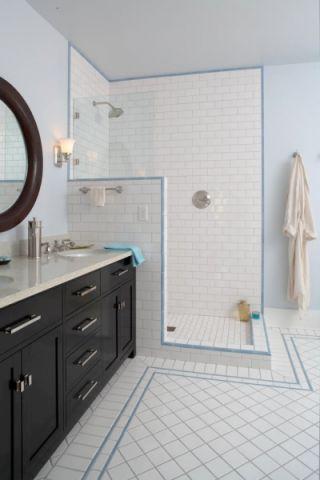 浴室隔断美式风格装饰效果图
