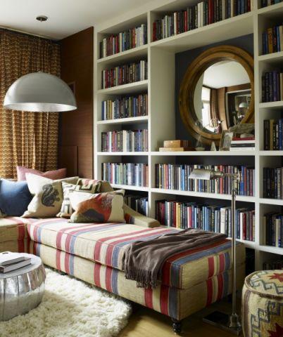 客厅书架混搭风格装潢设计图片