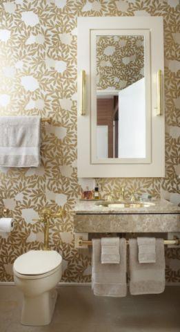 卫生间背景墙混搭风格效果图