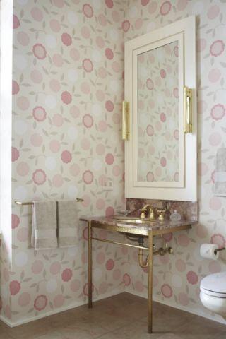 浴室洗漱台混搭风格装潢效果图