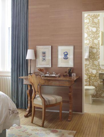 卧室书桌混搭风格装潢图片