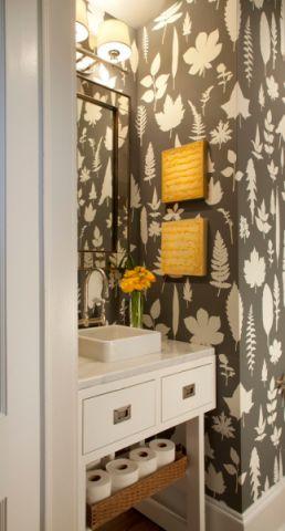 浴室背景墙现代风格装潢效果图