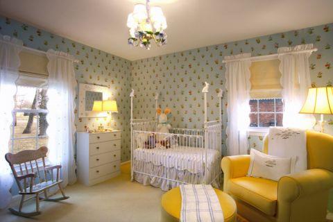 儿童房窗帘混搭风格装潢图片