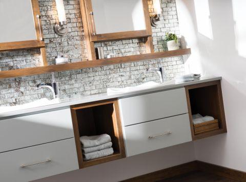 浴室背景墙北欧风格装修图片