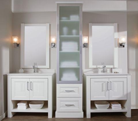 浴室洗漱台北欧风格装饰图片