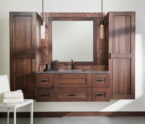 浴室背景墙北欧风格装修设计图片