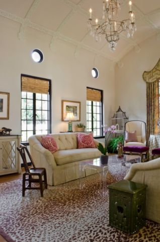 客厅窗帘地中海风格装饰图片