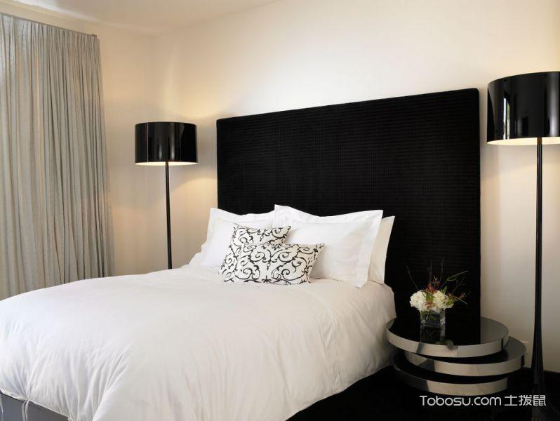 卧室黑色床头柜现代风格装修图片